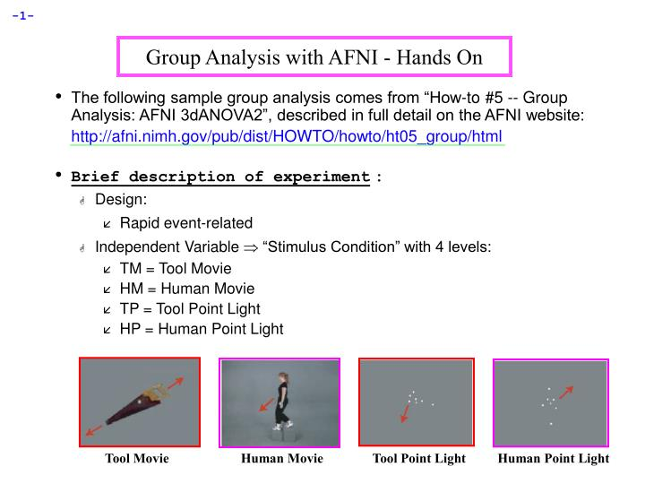 group analysis with afni hands on