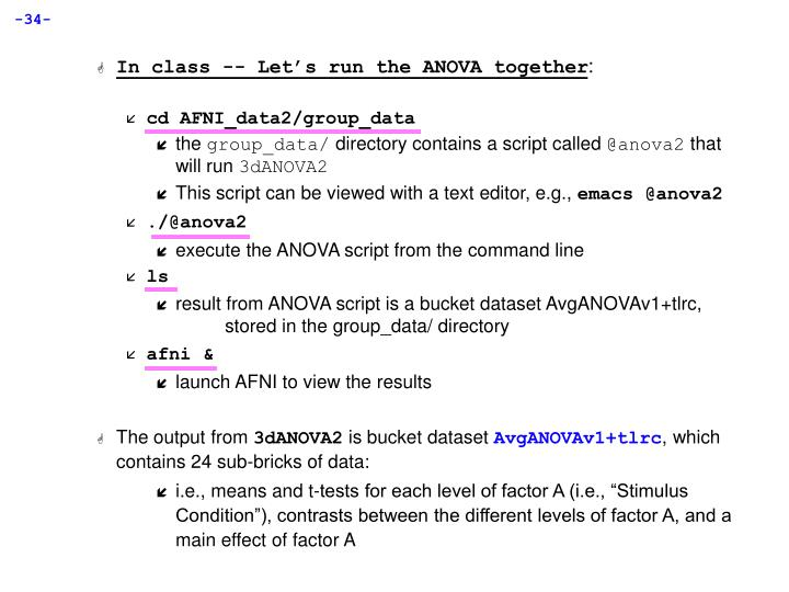In class -- Let's run the ANOVA together