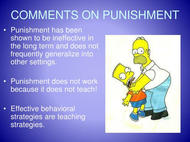 COMMENTS ON PUNISHMENT