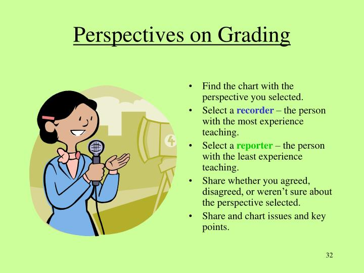 Perspectives on Grading