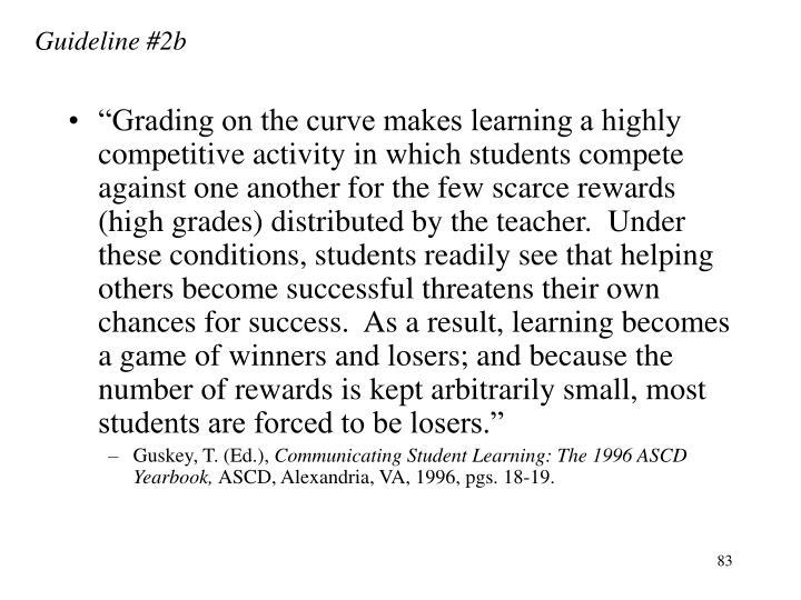 Guideline #2b