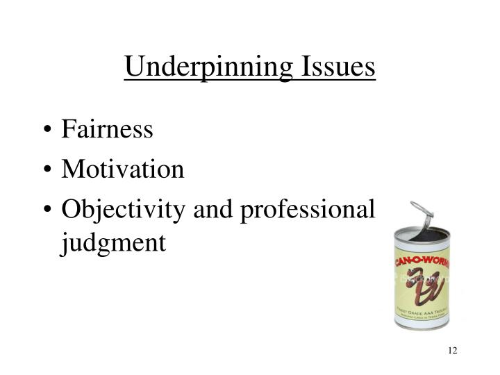 Underpinning Issues