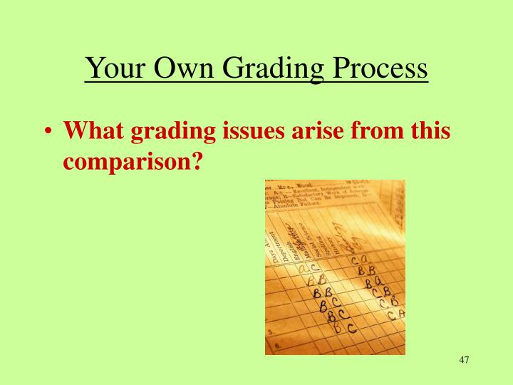 Your Own Grading Process