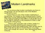 modern landmarks
