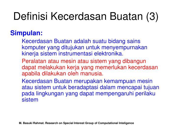 Definisi Kecerdasan Buatan (3)
