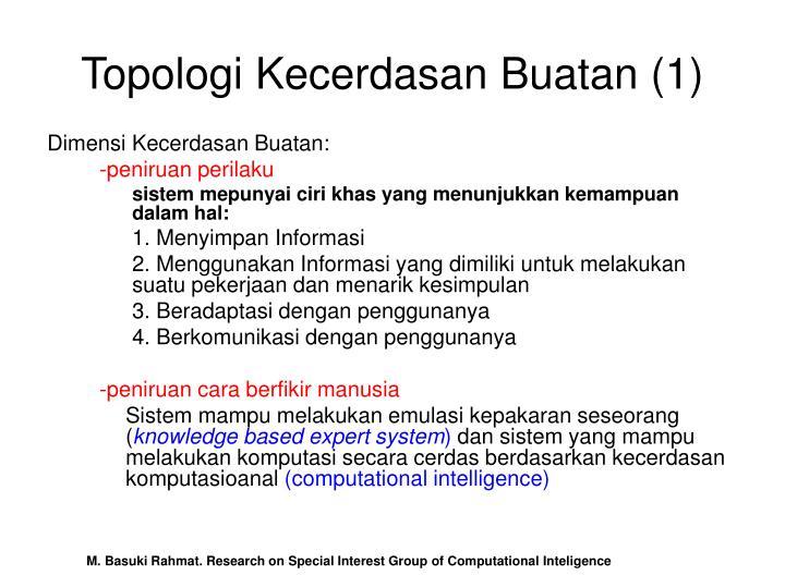 Topologi Kecerdasan Buatan (1)