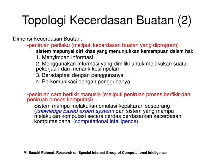 Topologi Kecerdasan Buatan (2)