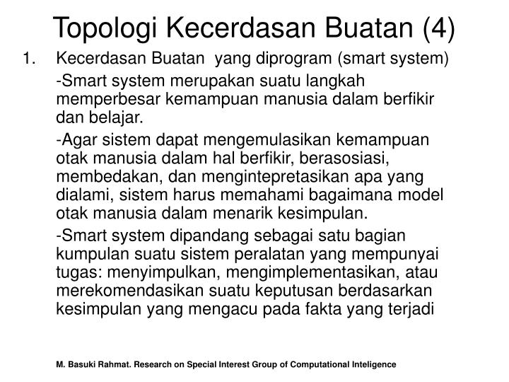 Topologi Kecerdasan Buatan (4)