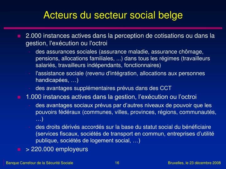 Acteurs du secteur social belge