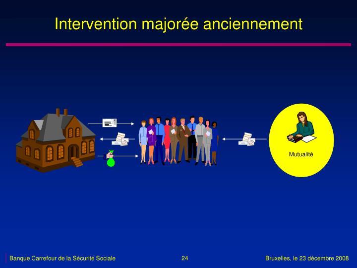 Intervention majorée anciennement
