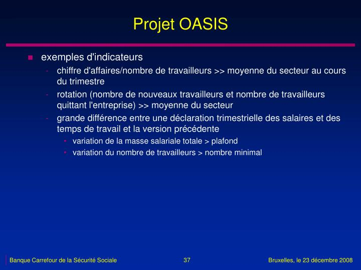 Projet OASIS