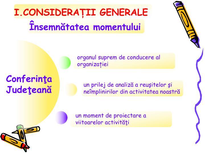I.CONSIDERAȚII GENERALE