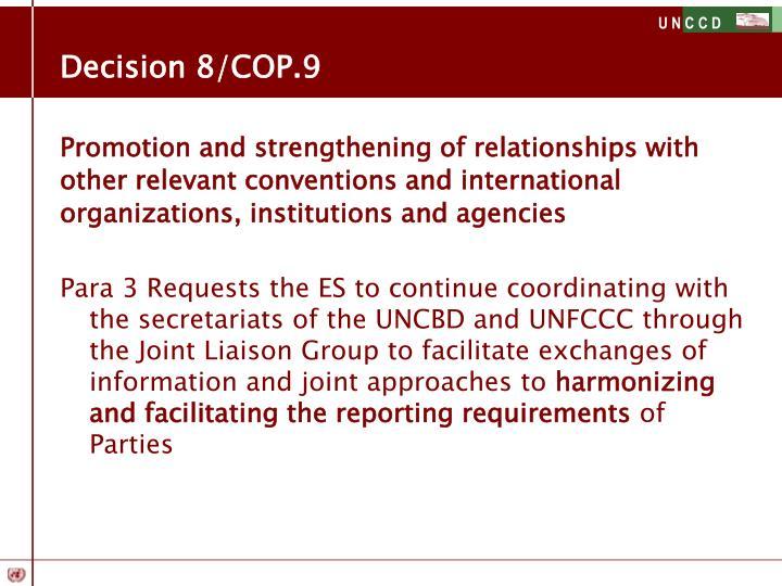 Decision 8/COP.9