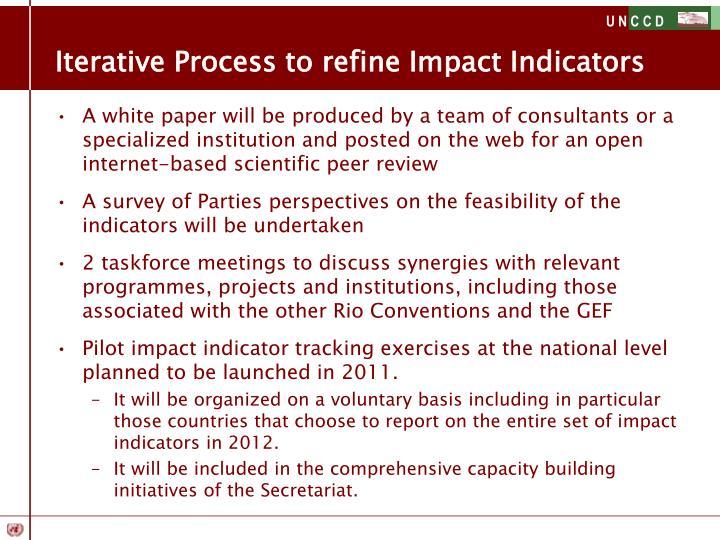 Iterative Process to refine Impact Indicators
