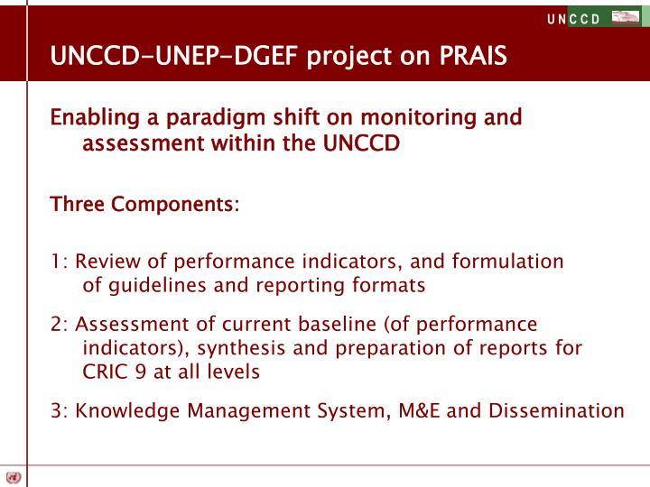 UNCCD-UNEP-DGEF project on PRAIS