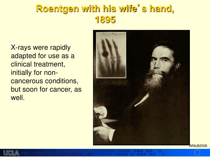 Roentgen with his wife