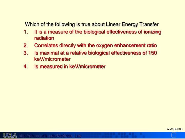 Which of the following is true about Linear Energy Transfer