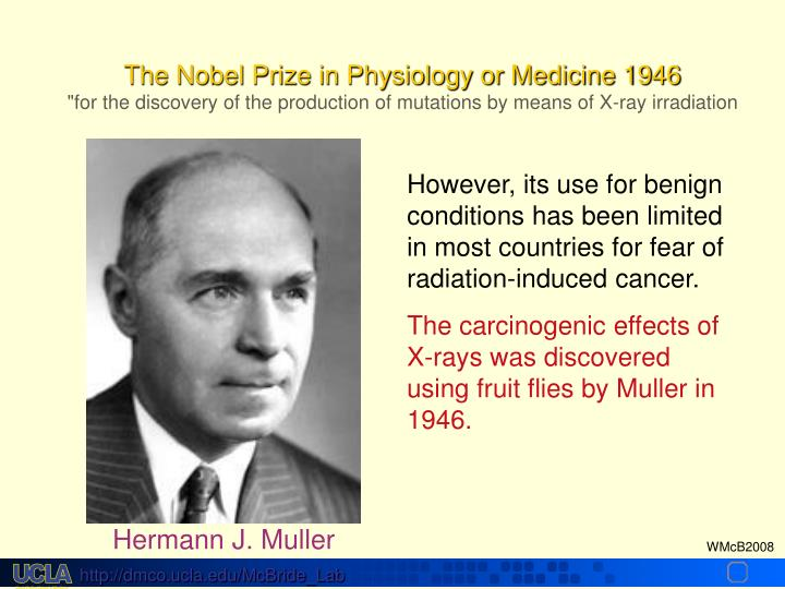 The Nobel Prize in Physiology or Medicine 1946