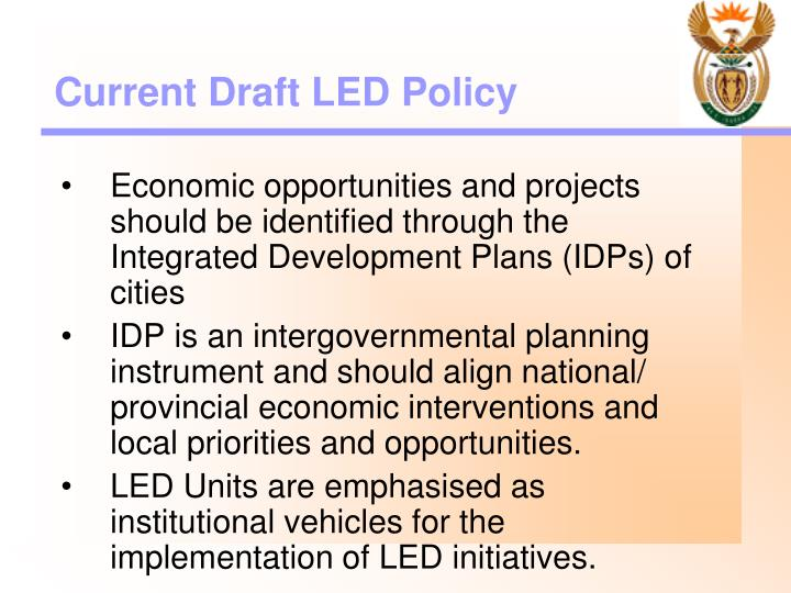 Current Draft LED Policy