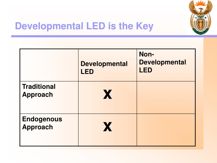 Developmental LED is the Key