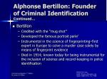 alphonse bertillon founder of criminal identification continued