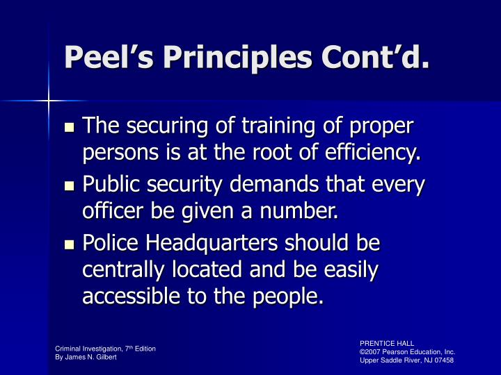 Peel's Principles Cont'd.