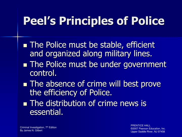 Peel's Principles of Police
