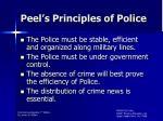 peel s principles of police