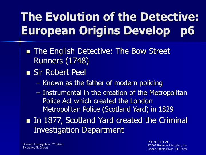 The Evolution of the Detective: European Origins Develop   p6