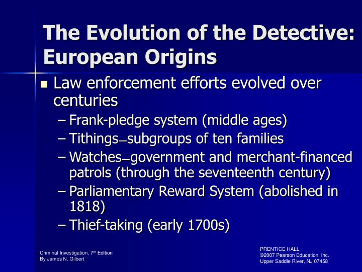 The Evolution of the Detective: European Origins