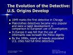 the evolution of the detective u s origins develop