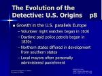 the evolution of the detective u s origins p8