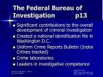 the federal bureau of investigation p13