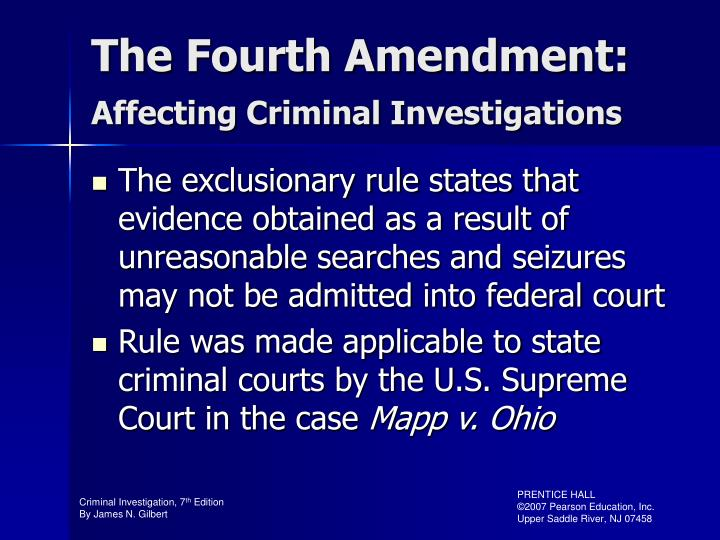 The Fourth Amendment: