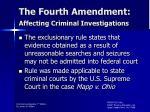 the fourth amendment affecting criminal investigations