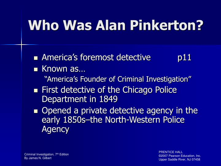 Who Was Alan Pinkerton?