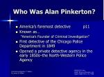 who was alan pinkerton