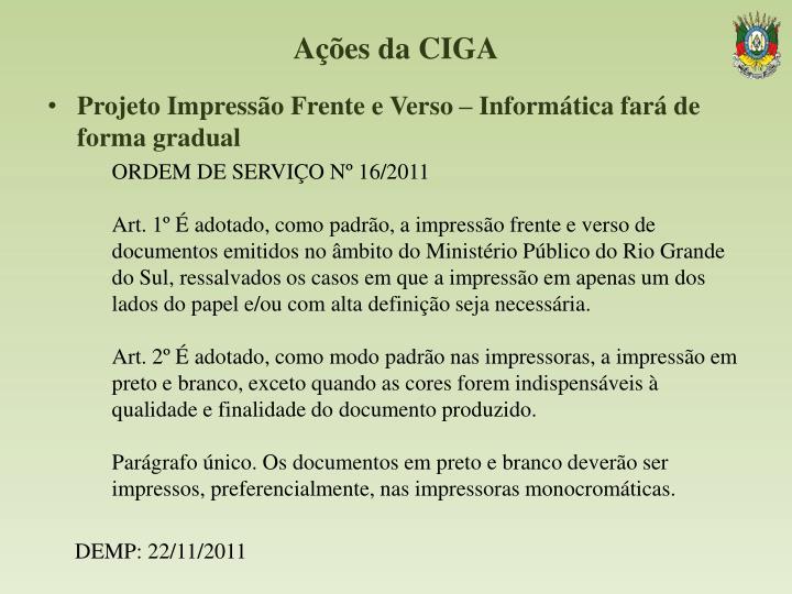 Ações da CIGA