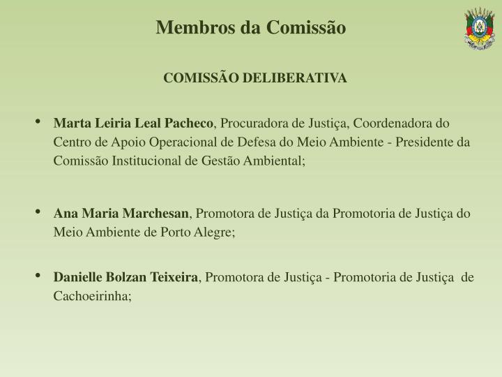 Membros da Comissão