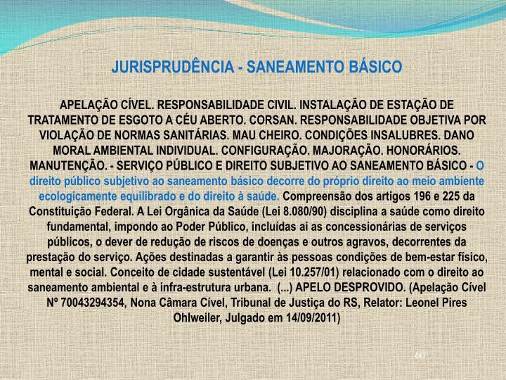 JURISPRUDÊNCIA - SANEAMENTO BÁSICO