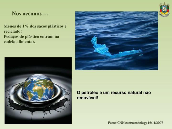 Nos oceanos …