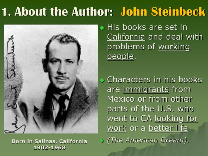 1 about the author john steinbeck