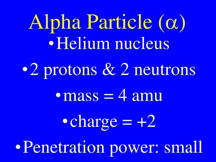 Alpha Particle (