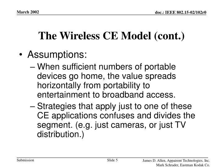 The Wireless CE Model (cont.)