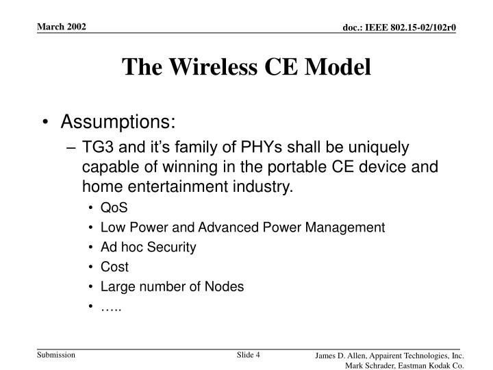 The Wireless CE Model