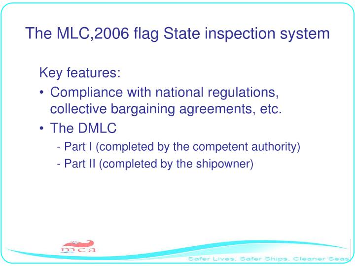 The MLC,2006 flag State inspection system