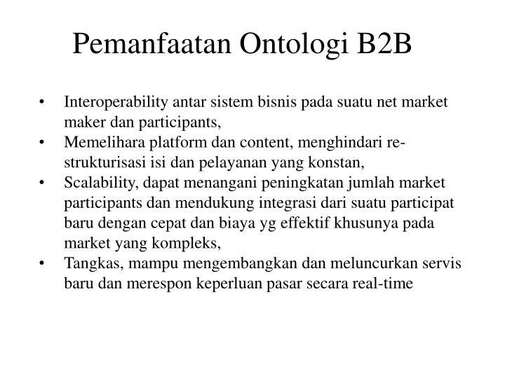 Pemanfaatan Ontologi B2B