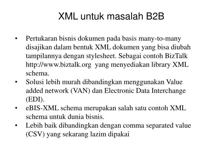 XML untuk masalah B2B
