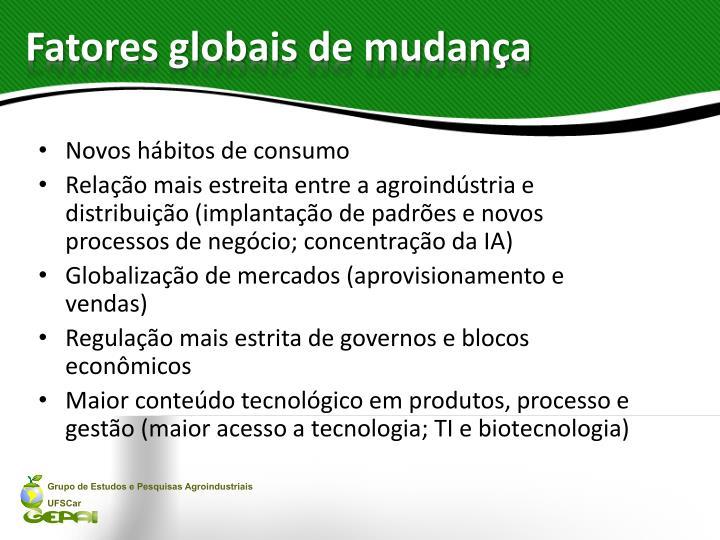 Fatores globais de mudança