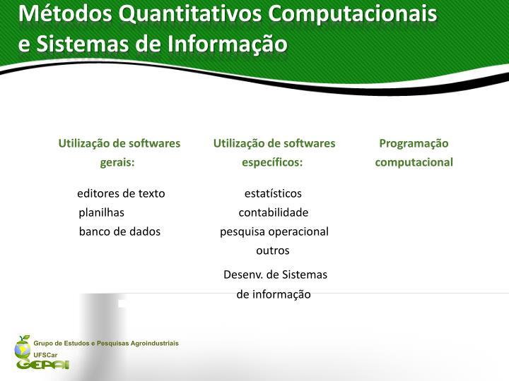Métodos Quantitativos Computacionais